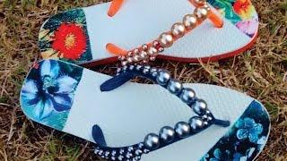 getlinkyoutube.com-Como decorar lindamente o solado de seu chinelo, facilmente! E como saber o preço de venda!