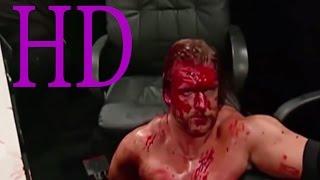 getlinkyoutube.com-John Cena vs Triple H vs Edge WWE | Backlash 2015 Bloody match