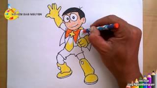 Vẽ Siêu nhân Nobita/How to draw Nobita and the Space Heroes