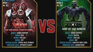 Real Steel WRB Twin Cities VS Zeus NEW graphics blows