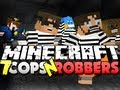 Minecraft Cops and Robbers 7 - DERP!! Sky, Jerome, Husky and Deadlox