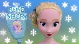 getlinkyoutube.com-Reine des neiges Elsa  Tête à coiffer ♥ Frozen Elsa Styling Head Hairstyle