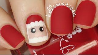 getlinkyoutube.com-Santa Detail Nail Easy Tutorial for Christmas    KELLI MARISSA