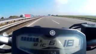 getlinkyoutube.com-Yamaha MT-07 (FZ-07) - Top speed / velocidade máxima (Höchstgeschwindigkeit) HD