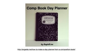 getlinkyoutube.com-How to Make a Day Planner from a Composition Book