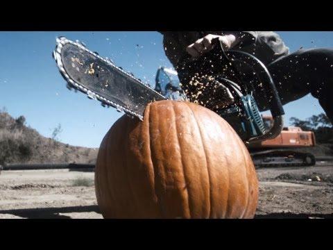 Top 10 Ways To Smash A Pumpkin (Slow Motion)