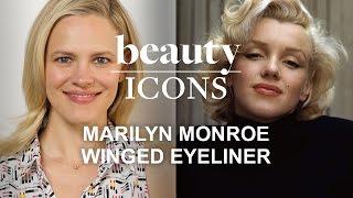 getlinkyoutube.com-How to Get Marilyn Monroe's Winged Eyeliner-Celebrity Makeup Tutorial-Style.com's Beauty Icons