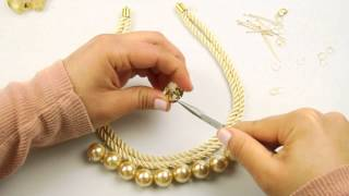 getlinkyoutube.com-Fashion Topic Crystal Pearl Necklace