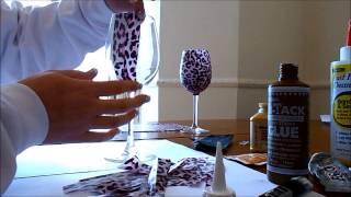getlinkyoutube.com-How to Decoupage a Wine Glass