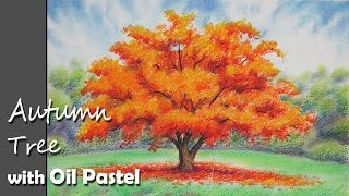 getlinkyoutube.com-How to Paint A Autumn Tree with Oil Pastel