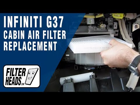 How to Replace Cabin Air Filter Infiniti G37