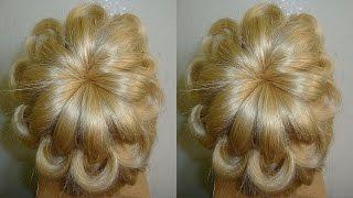 Easy und Quick Prom/Wedding Hairstyle.Evening Updo Hairstyles Tutorial.Penteados
