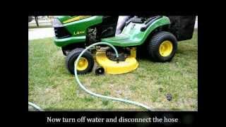 getlinkyoutube.com-John Deere Lawn Tractor Tune Up, Step 5 of 5: Deck AutoWash
