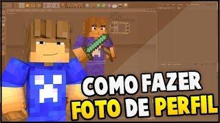 getlinkyoutube.com-Como fazer uma Foto de perfil de Minecraft (avançada)