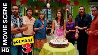 Happy Birthday Daboo | Golmaal 3 | Comedy Movie Scene width=