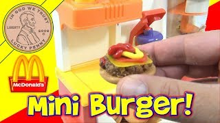 getlinkyoutube.com-McDonald's Happy Meal Magic 1993 Hamburger Maker Set - Making Hamburgers!