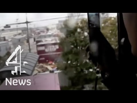Latest eye witness video of tsunami
