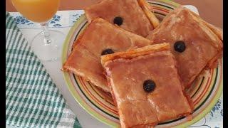 getlinkyoutube.com-Pizza feuilletee/Pizza with puff pastry/بيتزا بالعجينة المورقة