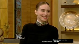 getlinkyoutube.com-Rooney Mara Interview ! with Kelly and Michael (Oct 7th, 2015)