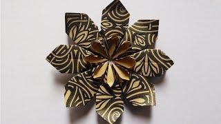 getlinkyoutube.com-Paper Hand Work | New Origami Flower | HandiWorks #23