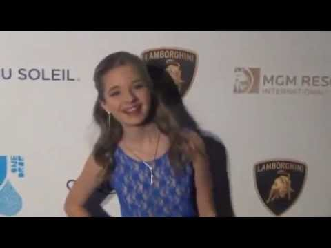 Jackie Evancho - One Night for One Drop Blue Carpet Event 2013