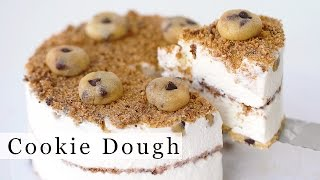 getlinkyoutube.com-CHOCOLATE CHIP COOKIE DOUGH Ice Cream Cake Recipe 아이스크림 케잌 만들기