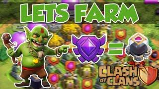 getlinkyoutube.com-Clash of Clans | Lets Farm | Crystal Liga = MUCHO DE? | [Deutsch/German]]