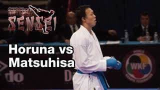Horuna vs Matsuhisa - Male kumite -75 kg - 21st WKF World Karate Championships Paris Bercy 2012