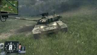 getlinkyoutube.com-SpinTires T90 Russian tank Test