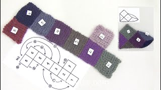 getlinkyoutube.com-DROPS Technique Tutorial: How to assembly slippers with squares after a chart