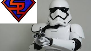 getlinkyoutube.com-Star Wars The Force Awakens Hot Toys First Order Stormtrooper Squad Leader 1/6 Scale Figure Review