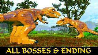getlinkyoutube.com-LEGO Jurassic World All Final Boss's & ENDINGS