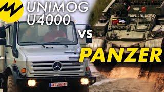 Unimog U4000 kontra czołg