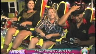 Lu leva telespectadora no parque de diverões da ExpoLondrina 2015 (17/04)