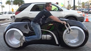 getlinkyoutube.com-Tron Bike & Most Expensive Custom Motorcycles | Daytona Bike Week 2016