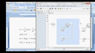 Solving second order ordinary differential equation using simulink - spring mass damper