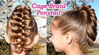 getlinkyoutube.com-Cage Braid Ponytail | Popular Braids | Cute Girls Hairstyles