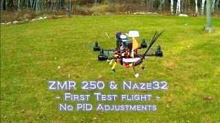 getlinkyoutube.com-ZMR250 Naze32 Mini Quad - First Test Flight without PID tuning on H250 / ZMR 250 frame