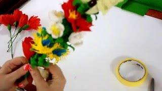 getlinkyoutube.com-Palma Wielkanocna z bibuły #4  DIY |  Easter Palm tissue |