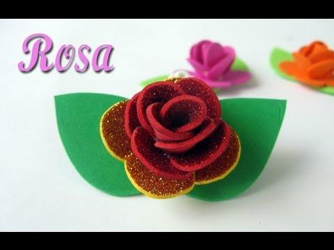 Manualidades : Rosa de goma eva - Foam Rose