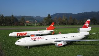 getlinkyoutube.com-Radio controlled Aircraft McDonnell Douglas MD-11 Swiss und TAM Airline turbine model Hausen Flugtag