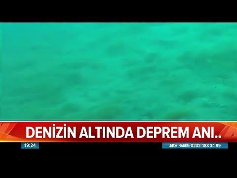 Denizin altında deprem anı - Atv Haber 3 Ekim 2019