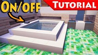 getlinkyoutube.com-Minecraft: Working Jacuzzi - Bath Tub Tutorial / How to make / Improved / For Modern House /