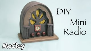 DIY Dollhouse - How to make a miniature Cathedral Radio -