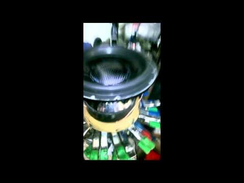 Wall socketing a Sundown ZV3 12 Inch Subwoofer (My other ZV3)  !EPIC MUST WATCH!