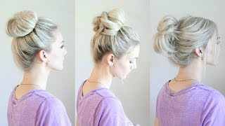 6 Easy Messy Buns