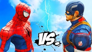 getlinkyoutube.com-Spiderman vs Captain America - Epic Superheroes Battle