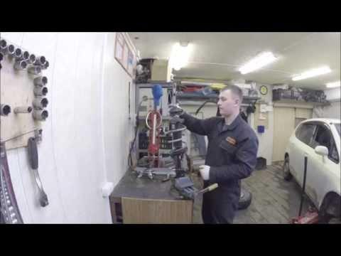 Замена переднего амортизатора Honda Fit GD г.в.
