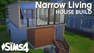 getlinkyoutube.com-The Sims 4 House Building - Narrow Living