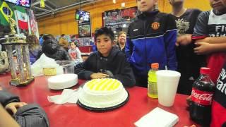 Cumpleaños de David Gómez de Blue Islands y Jospeh Ortíz de Deportivo Jrs.